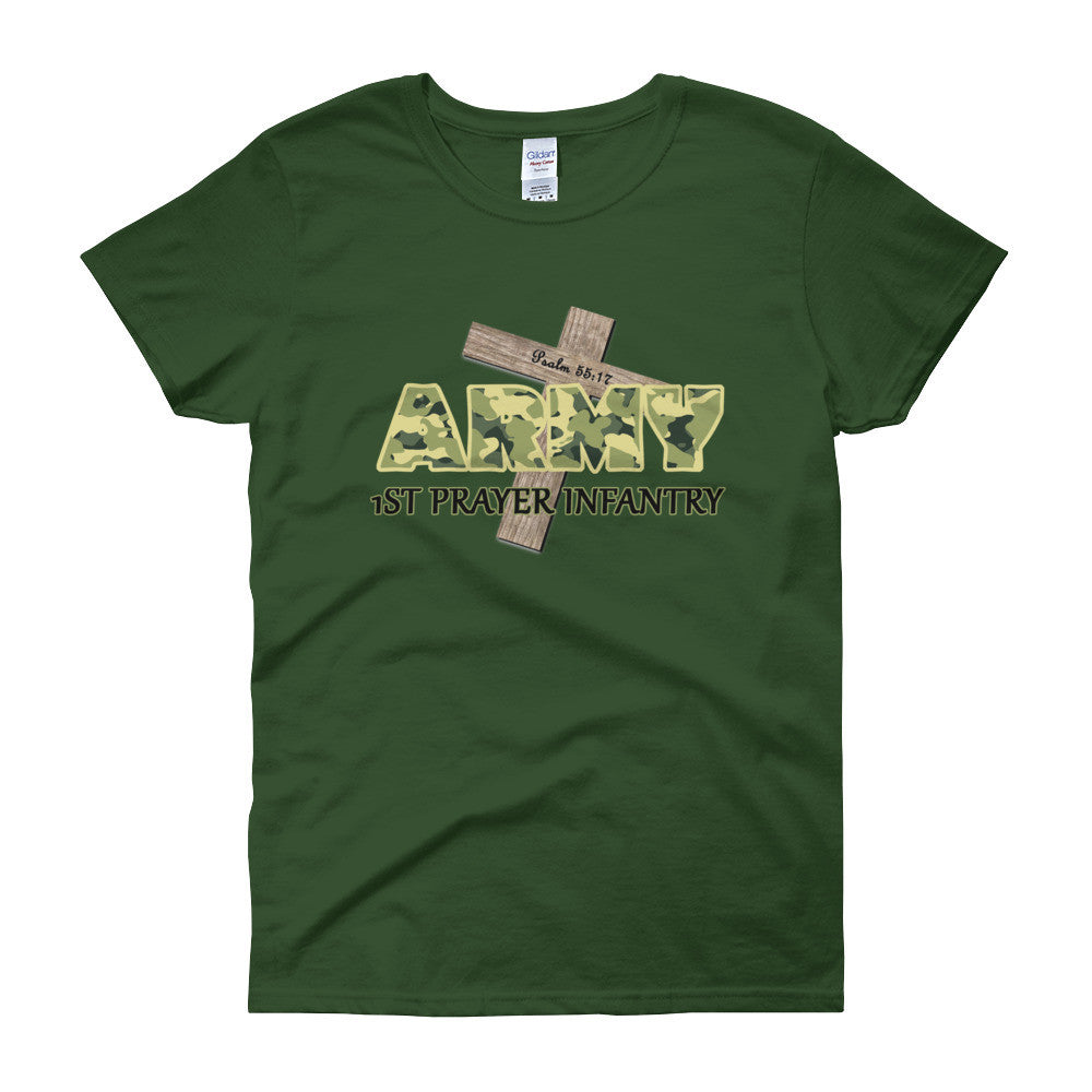 God's Prayer Army — Psalm 55:17 Women's short sleeve t-shirt