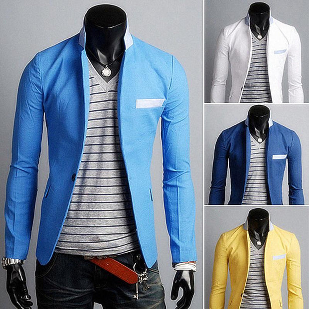 Single Button Leisure Blazers Slim Fit