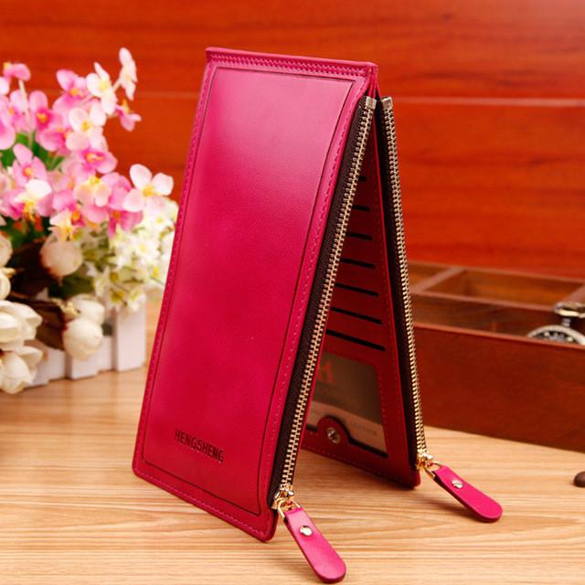 Ladies Purse Double Zippers Wallets Ultra-large Capacity