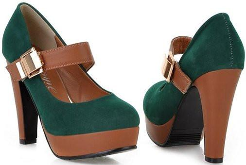 Buckle Strap Platform Shoes