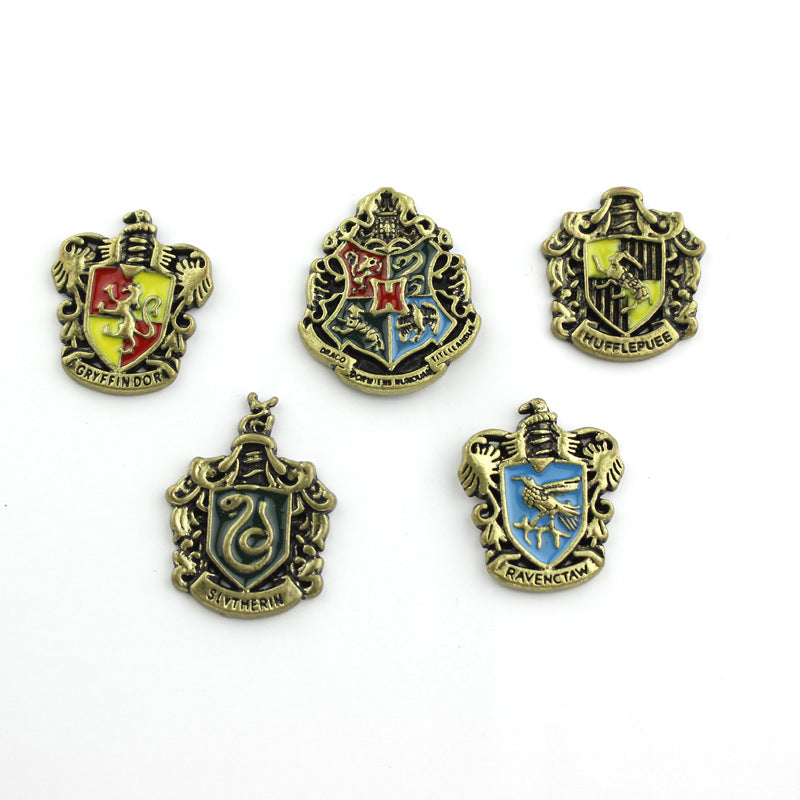 Vintage Hogwarts School Badge Enamel Pin