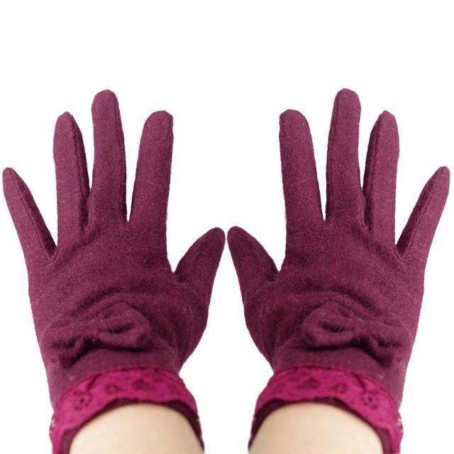 Butterfly Knot Soft And Warm Female Glove