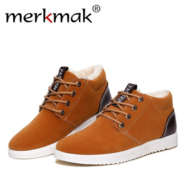 Breathable Suede Boots Outdoor Working Lace Up Shoes