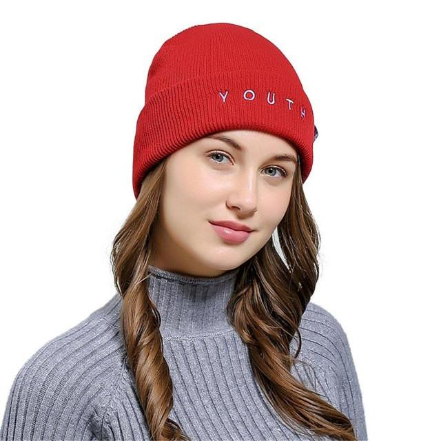Unisex YOUTH Embroidered Beanie
