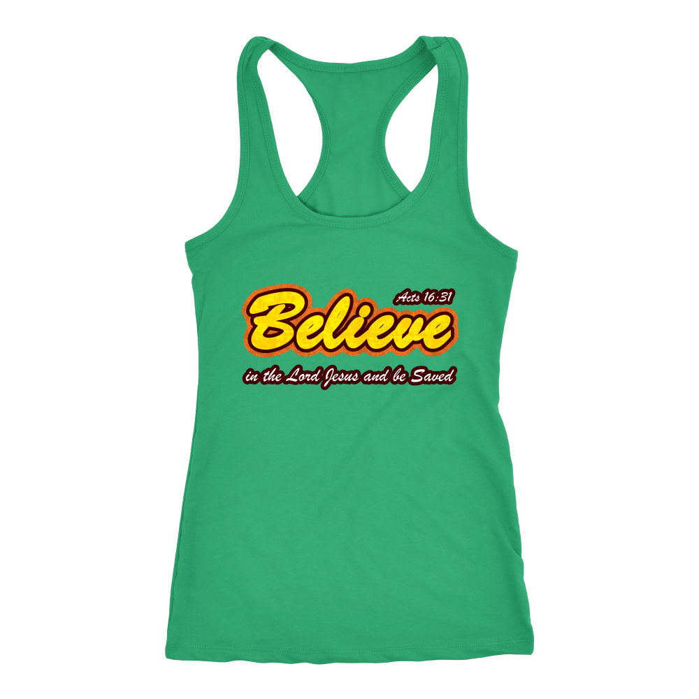 Believe in the Lord Jesus... — Acts 16:31 Women's Tank Top