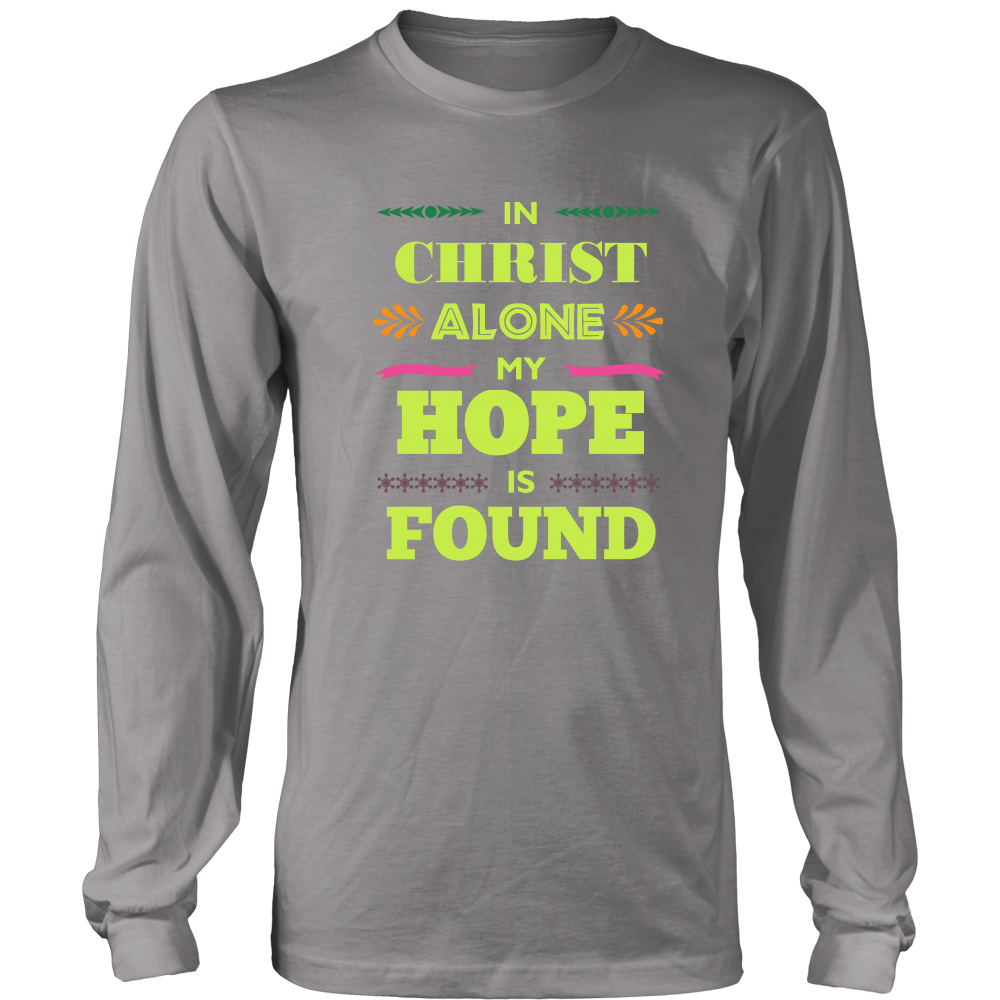 In Christ Alone Long Sleeve T-Shirt