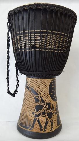 Handcarved, Djembe Drum