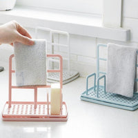 Adjustable Sponge and Towel Storage Organizer Drying Rack