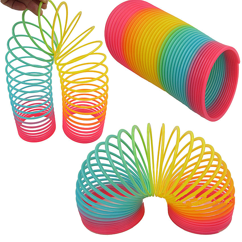 1pcs Rainbow Circle Slinky