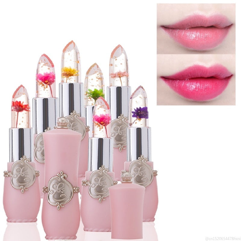 Flower Crystal Magic Color Changing Jelly Lipstick