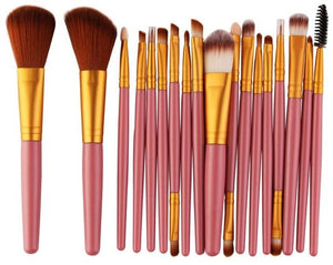 15pcs Makeup Brush Set