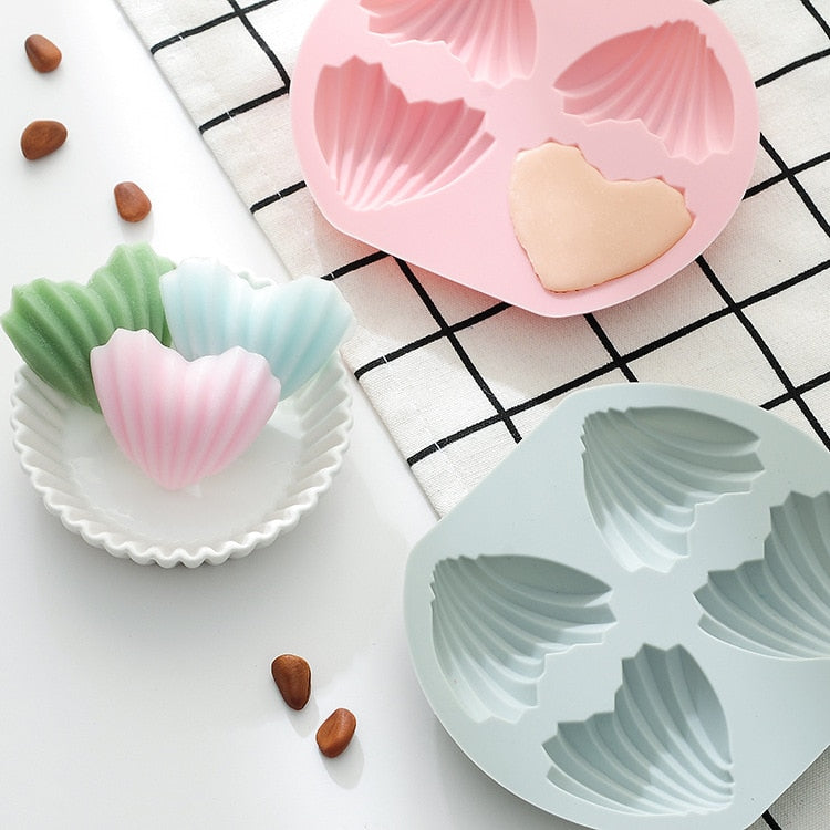 Heart-Shaped Madeleine Silicone Cake Mold