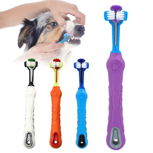 Three Head Pet Toothbrush