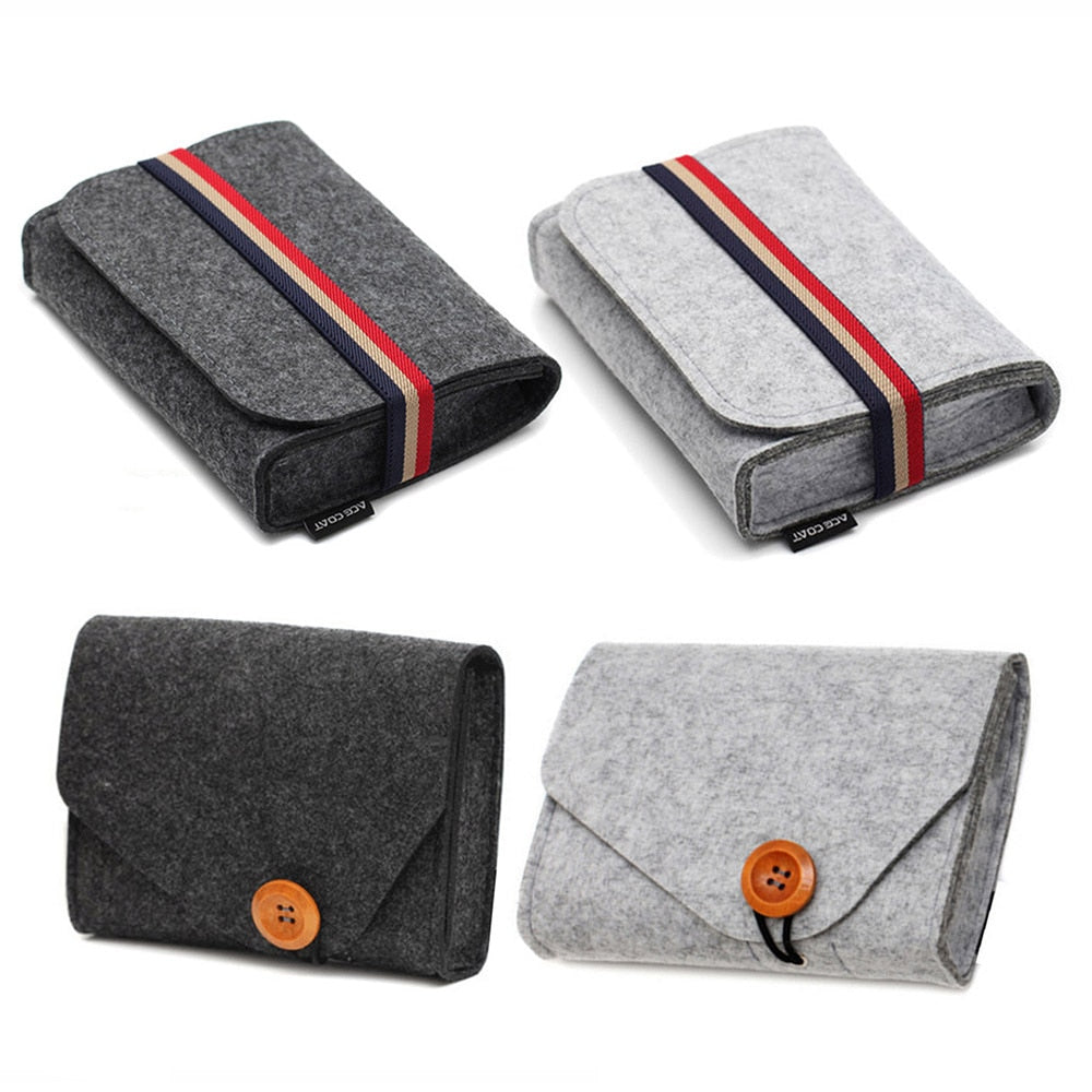 Mini Felt Pouch Electronics Storage Bags