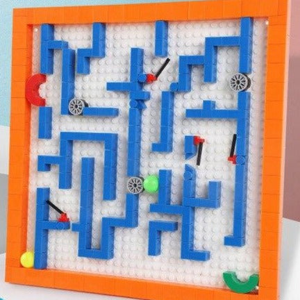 Maze Ball Game Building Blocks Educational Toy