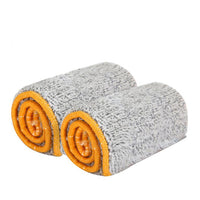 2pcs Double Sided Machine Washable Mop Replacement Cloth