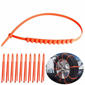 10pcs Anti-Skid Chains Traction Wires Winter Protection