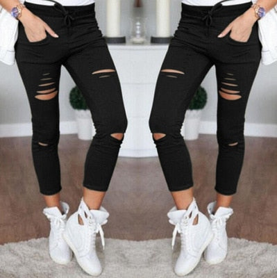 Distressed Ripped Pants