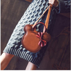 Leather Mickey Handbag