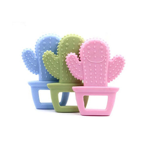 Baby Teether 1pc Cute Cactus Pendant Food Grade Silicone Teether Making Jewelry Necklace Teething Toys