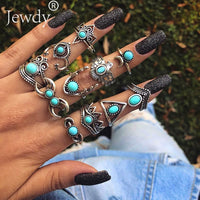 Styles Boho Punk Women Rings Set