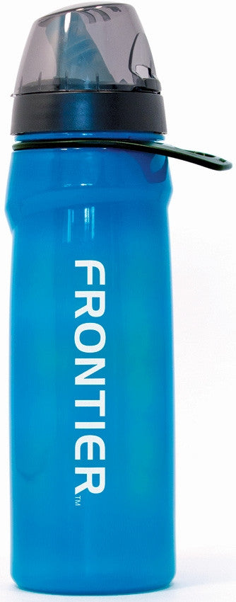 Frontier Flow Water Bottle + Filter - Series II with Red Line Water Filtration - Blackland Prairie Survival, Supply, and Surplus