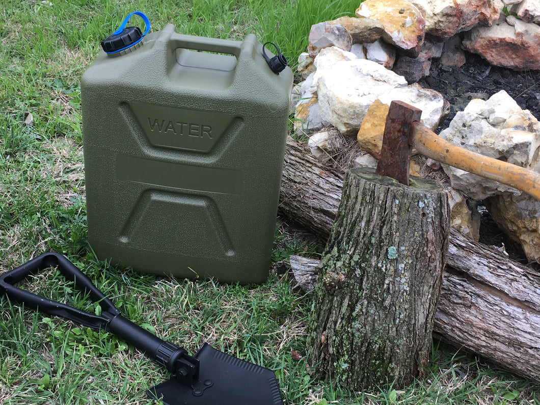New Heavy Duty Plastic Water Can OD - Blackland Prairie Survival, Supply, and Surplus