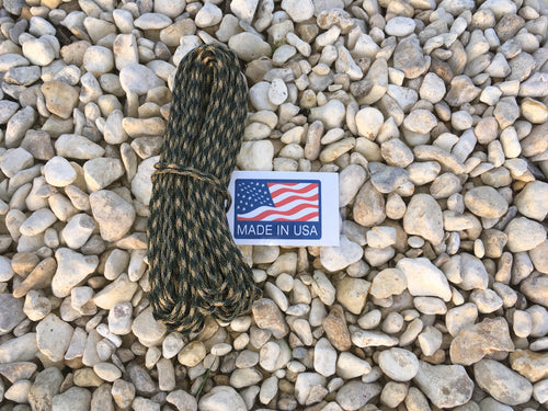U.S. Made Paracord - 100ft. - Woodland - Blackland Prairie Survival, Supply, and Surplus