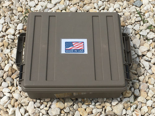 Low Profile Ammo Crate/Utility Box- Dark Earth - Blackland Prairie Survival, Supply, and Surplus