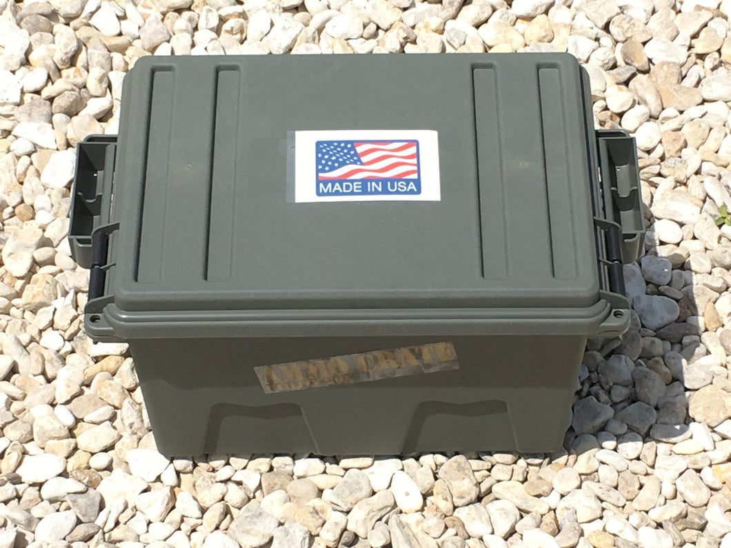 Tall Ammo Crate/Utility Box- Army Green - Blackland Prairie Survival, Supply, and Surplus