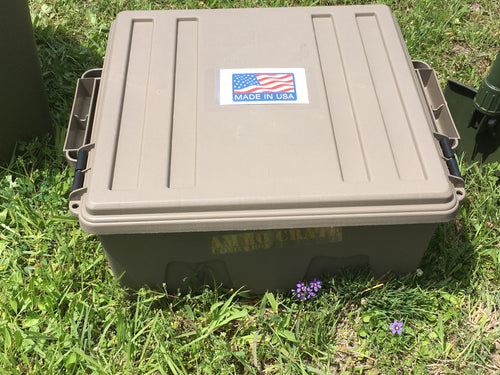 Large Ammo Crate/Utility Box- Dark Earth - Blackland Prairie Survival, Supply, and Surplus