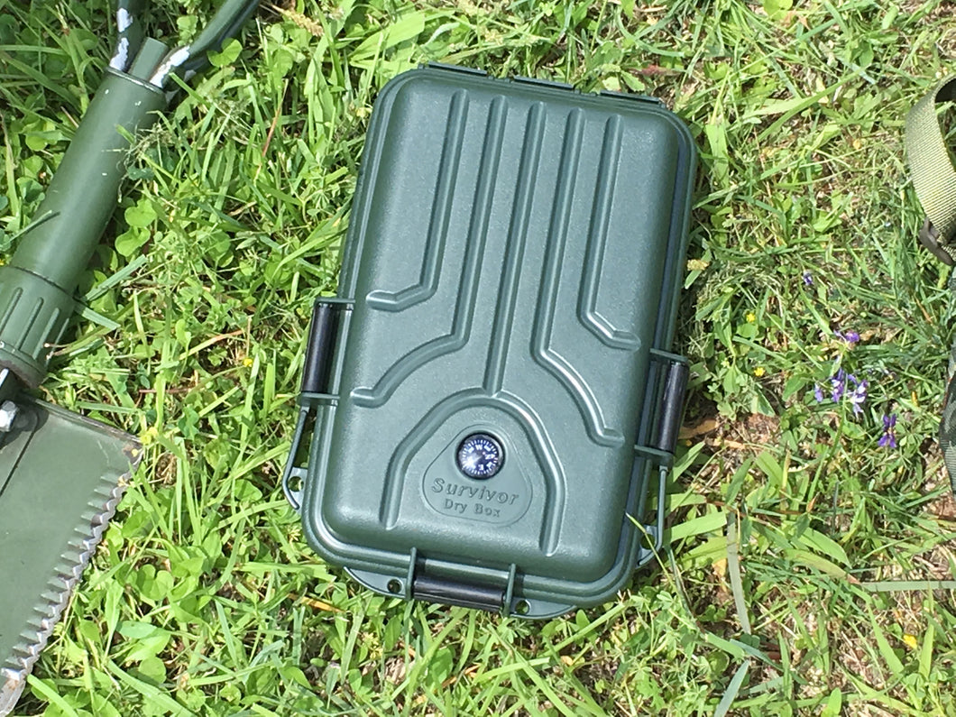 Small Survivor Dry Box- Forest Green - Blackland Prairie Survival, Supply, and Surplus