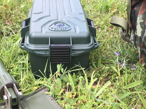 Large Survivor Dry Box- Forest Green - Blackland Prairie Survival, Supply, and Surplus