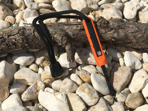 Polymer Ferrocerium Rod with Striker (ORANGE or GREY) - Blackland Prairie Survival, Supply, and Surplus