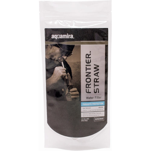 Aquamira Frontier Straw- Emergency Water Filtration Straw-Blue Line - Blackland Prairie Survival, Supply, and Surplus