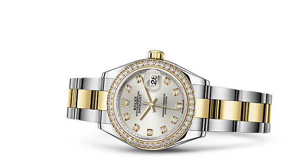 Rolex DateJust White Mother Of Pearl Diamond Watch 26mm