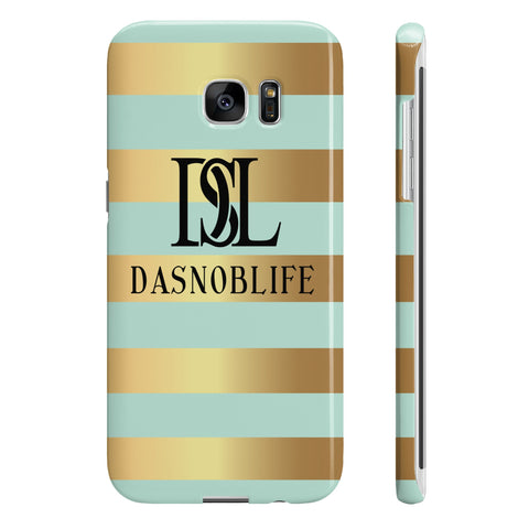 DASNOBLIFE Mint and Gold Samsung Galaxy S7 Edge Slim case