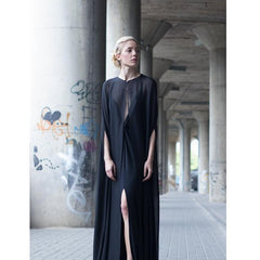 Black cape dress