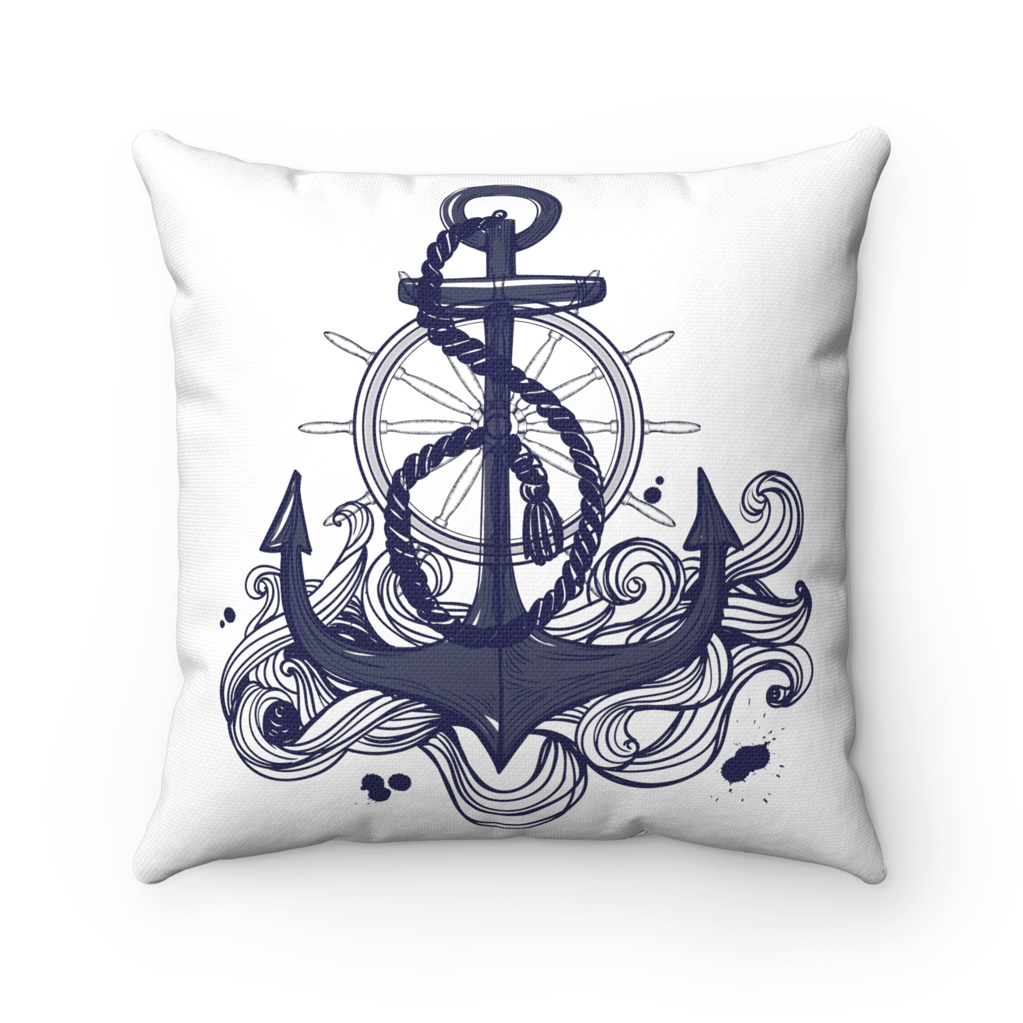 Nautical Spun Polyester Square Pillow