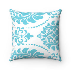 Mint Royal Spun Polyester Square Pillow