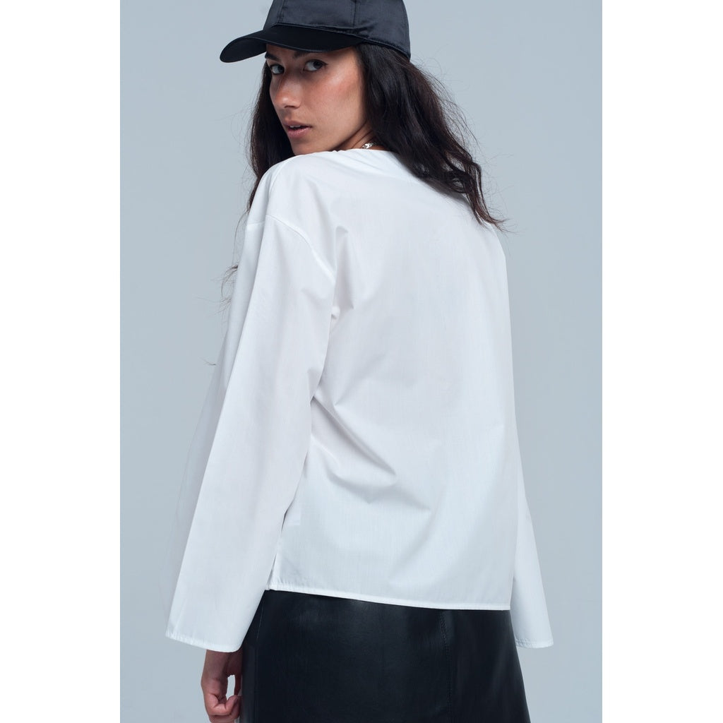 Blouse in white color