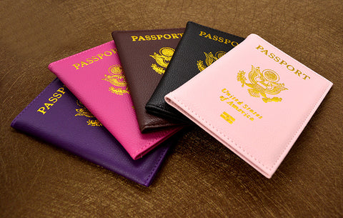 America Leather Passport Cover