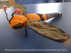 Whangarei Kamo Intermediate School  Needle Felting project 1