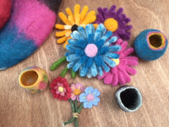 Needle Felting Flowers