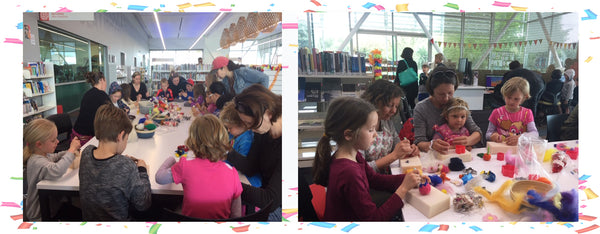 needle felting workshop in school holiday at Te Atatu Peninsula Library