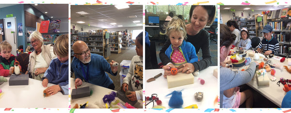 Needle Felting Family workshop for Children School Holiday