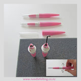 Needle Felting Handle - Pen Style 3 in 1 needles Tool