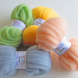 40 colours Merino Wool Sliver - 10gms or 20gms from $3.00