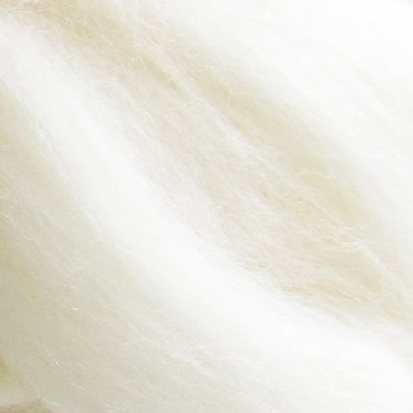 Natural White Merino Wool Sliver -  Super Soft