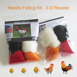 Needle Felting Beginner DIY Kit - 3D Rooster